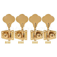 4 String Bass Guitar Tuners Tuning Pegs Keys Machine Heads Open Back 2L2R Gold