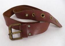 Para Hombre De Colección De Calidad Grueso Brown usada en el oeste de hebilla de cinturón Indie Mod