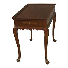 Vintage Ethan Allen Queen Anne Style Tea Table w/Pull-Outs