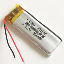 3.7V 250mAh Lipo Polymer Rechargeable Battery For Mp3 Bluetooth headphone 401645