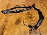 New - Llavero CERTINA Keychain Pendant - Black color Negro -Textile - Nuevo