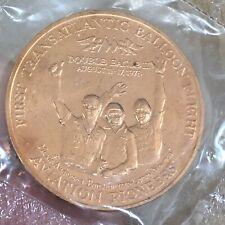 Vintage 1978 FIRST TRANSATLANTIC BALLOON FLIGHT Copper Coin Double Eagle II Team