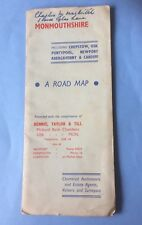 Vintage Monmouthshire A Road Map 1955
