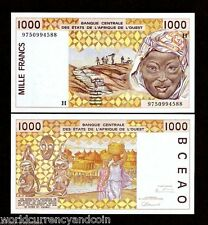 WEST AFRICAN STATES NIGER 1000 1,000 FRANCS P611H 1997 PEANUT UNC MONEY WAS NOTE