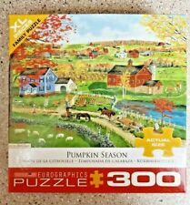 PUMPKIN SEASON - 300 LARGE Piece Puzzle - Country Farm In Autumn - FREE Ship