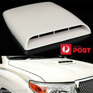 Car SUV Pickup Decorative Simulation 3D Air Flow Intake Front Hood Scoop Vent AU