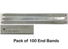 Pack of 100 Scaffold Board End Bands - Latest Design