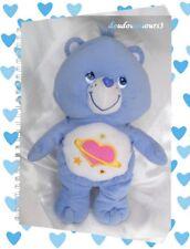 Peluche Doudou Bleu Et Blanc Coeur Rose Etoiles Bisounours Care Bears