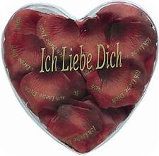 Textil Rosenblätter rot - ich liebe dich - Art. 8110 -Tischdeko Hochzeitstag etc