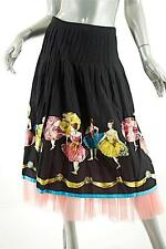 COOPER by TRELISE Black Cotton 'Ballerina' Painted Skirt w/Pink Net Slip-Sz 10
