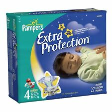 Pampers Size 4, (4 packs of 27), 108/CS, WH--37000