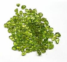 Peridot Gemstones Free Form Nugget drilled beads, 300 pieces. Beads 3-6mm