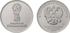 Russian 25 rubles ENGLISH UNCIRCULATED 2018 FIFA World Cup Russia Football