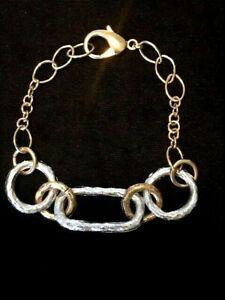 Bracelet/ Gold & Platinum Colour Plated/ Italian/Stylish & TOP Quality /RR$89.95