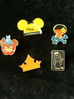 5 Disney Pin WDW Hidden Mickey Mouse Candy Apple college program free ship #11