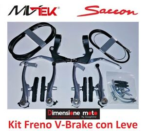 "Freestyle Terminali per bici 20/""-24/""-26/"" BMX Kit Freno Guaina Nera 2 Cavi"