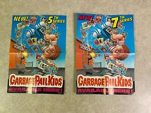 Vintage Topps 1986 Garbage Pail Kids LOT of 2 Store Display Posters 7th & 5th