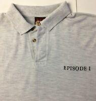 Star Wars Original Vintage 1999 Episode I XL Mens Grey Polo Embroidered T-Shirt