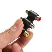 Audio Video Connector 3 RCA AV Coupler Adapter 3RCA Female to Female Mini US New