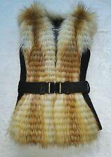 echte kanadische Rotfuchs Weste real canadian red fox fur vest NEW