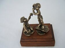 VINTAGE 1970  LEVIN BRONZE SCULPTURE SEASHORE 4