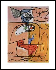 Le Corbusier Unite Poster Kunstdruck Bild mit Alu Rahmen in schwarz 30x24cm