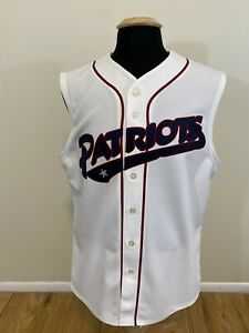 Majestic Somerset Patriots Minor League Baseball Sleeveless Jersey Men's Medium