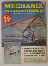 1961 Mechanix Illustrated November Issue Features Flying Flivver Flex Wing Plane