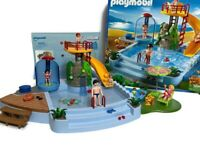 PLAYMOBIL 4858 Open Air Pool Playset 90% Complete with original box 2009 Manual
