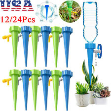 12/24pcs Garden Plant Automatic Self Watering Spikes Stakes Valve Waterer Device