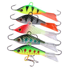 5pcs Winter Ice Jig Lures Minnow Hard Bait Jigging Fishing Lure Trout Bass