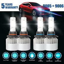9006+9005 LED Headlight 4200W 630000LM Hi-Lo Beam Combo Kit 6000K HID Lamp Power