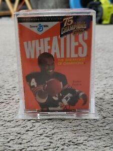 "WHEATIES 75TH ANNIVERSARY 24K GOLD "" WALTER PAYTON "" SIGNATURE MINI BOX NEW"