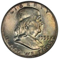 "1959 50C PCGS MS66FBL ""DDR FS-801"" FRANKLIN ~ COLORFUL FINEST KNOWN RARITY!"