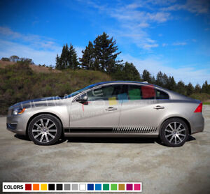 2x Side Stripes Decal Sticker Kit for Volvo S60 Turbo Sport Sun Roof 2014 - 2018