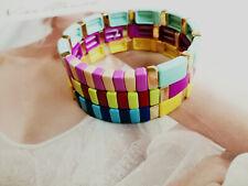 ROXANNE ASSOULIN Set Of Three Enamel Gold Bracelet