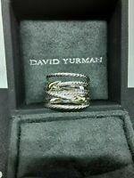 DAVID YURMAN RING CROSSOVER DOUBLE XX 18K GOLD