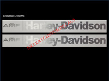 2 x HARLEY DAVIDSON AMF style Tank decal sticker colours + BRUSHED CHROME