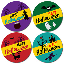 Halloween Stickers 144 Trick or treat giveaways or party bag labels kids