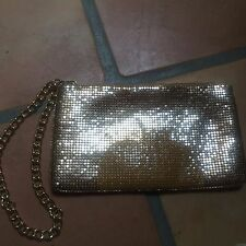 "dkny gold sequin apple purse handbag clutch 8-1/2"" x 5"""