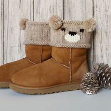 Teddy/Panda/Koala Bear Boot Toppers One Size Aran Wool -  Knitting Pattern