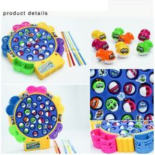Baby Kids Fishing Game Educational Toys Team Fishing Action Rolling Pieces Board