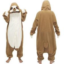 Anime Sloth Kigurumi Cosplay Pyjamas Costume Hoodie Adult jump suit Fancy Dress
