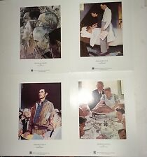 4 Norman Rockwell Prints - Veterans - Curtis Printing