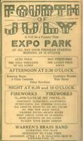 Advertising Newspaper 4th of July Fireworks Expo Park w/Band Evansville IN 1922