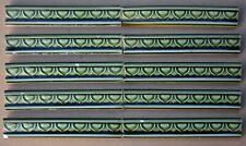HELMAN - 10 ANTIQUE ART NOUVEAU MAJOLICA BORDER TILES C1900