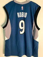 Adidas NBA Jersey Minnesota Timberwolves Ricky Rubio Blue sz 2X