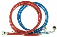 Triple Layer Stainless Steel Washing Machine Hoses with 90 degree elbow - 5 Ft