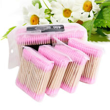 New Disposable Cotton Swab Buds Double Head Applicator Makeup wood Handle