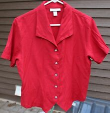 Woman's Red Blouse by Dressbarn; Size: Medium
